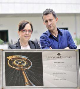 Iva Lovrec Štefanović i Zoran Brajević Plaketa NYF